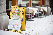 No waiting for the outside tables at Doc's in Missoula. Missoula Photographer, Picture of Missoula