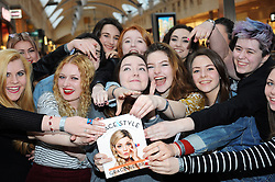 """© Licensed to London News Pictures. 20/02/2016<br /> Fans waiting to see Grace.<br /> Grace Helbig Comedian,actress,author and YouTube personality at Waterstones book store Bluewater,Greenhithe,Kent to  meet hundreds of fans who have come to buy her new book  """"Grace&Style"""".<br />  <br />  (Byline:Grant FalveyLNP)"""