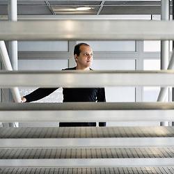 Oud player Anouar Brahem, at the Institut du Monde Arabe, Paris, France. 29 September 2009. Photo: Antoine Doyen