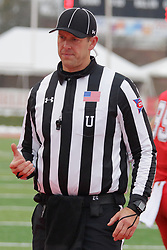 NORMAL, IL - November 17: Umpire: Paul Janus during a college football game between the ISU (Illinois State University) Redbirds and the Youngstown State Penguins on November 17 2018 at Hancock Stadium in Normal, IL. (Photo by Alan Look)