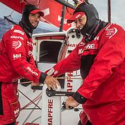 Leg 8 from Itajai to Newport, day 13 on board MAPFRE, Pablo Arrarte and Antonio Cuervas-Mons . 04 May, 2018.