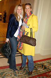 Left to right, SANCHIA GRIMALDI and CATHERINE VIALLI wife of football manager Gianluca Vialli  at a fashion show of Sybil Stanislaus Summer 2005 collection with jewellery by Philippa Holland held at The Lanesborough Hotel, Hyde Park Corner, London on 13th April 2005.<br /><br />NON EXCLUSIVE - WORLD RIGHTS