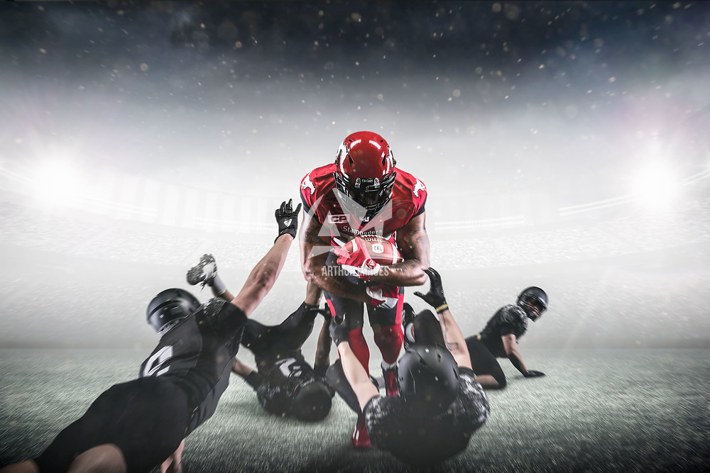 Jerome Messam, running back for the Calgary Stampeders.