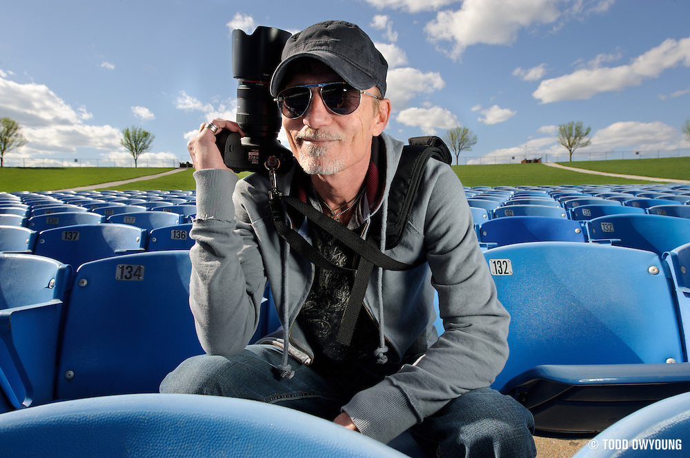 Portraits of music photographer Kenny Williamson, photographed in St. Louis on April 8, 2010.