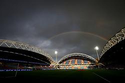 26th November 2017 - Premier League - Huddersfield Town v Manchester City - A rainbow over The John Smith's Stadium - Photo: Simon Stacpoole / Offside.