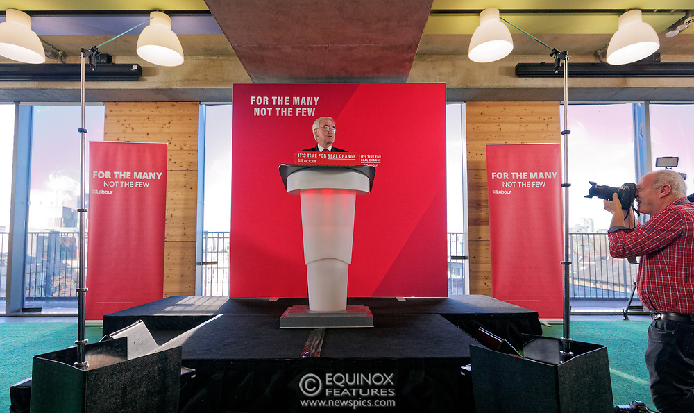 London, United Kingdom - 9 December 2019<br /> John McDonnell gives an economics speech in the run up to the general election 2019, on behalf of the Labour Party at Coin Street Community Builders, London, England, UK.<br /> (photo by: EQUINOXFEATURES.COM)<br /> Picture Data:<br /> Photographer: Equinox Features<br /> Copyright: ©2019 Equinox Licensing Ltd. +443700 780000<br /> Contact: Equinox Features<br /> Date Taken: 20191209<br /> Time Taken: 11170998<br /> www.newspics.com