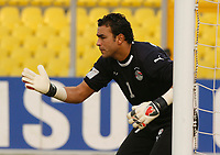 Photo: Steve Bond/Richard Lane Photography.<br />Egypt v Zambia. Africa Cup of Nations. 30/01/2008. Egypt keeper Essam El-Hadary directs his wall