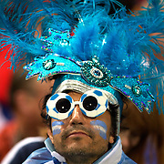 An Argentinian fan during the Argentina V Scotland, Pool B match at the IRB Rugby World Cup tournament. Wellington Regional Stadium, Wellington, New Zealand, 25th September 2011. Photo Tim Clayton...