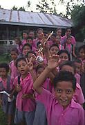 Schoolchildren, Upolu, Samoa, NMR (editorial use only)<br />