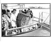 Barry Diller, Rupert Murdoch, on Murdoch's yacht, Morrocco© Copyright Photograph by Dafydd Jones 66 Stockwell Park Rd. London SW9 0DA Tel 020 7733 0108 www.dafjones.com