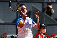 Marco Cecchinato of Italy in action during his Men's Singles match, round of 64, against Roberto Bautista Agut of Spain on the Mutua Madrid Open 2021, Masters 1000 tennis tournament on May 4, 2021 at La Caja Magica in Madrid, Spain - Photo Oscar J Barroso / Spain ProSportsImages / DPPI / ProSportsImages / DPPI