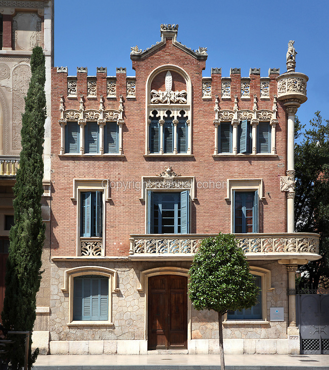 Casa Rull, 1900, by LLuis Domenech i Montaner, Reus, Catalonia, Spain. Domenech i Montaner was a leading architect of the Catalan Modernist style, the local variation on Art Nouveau or Jugendstil. Photograph by Manuel Cohen.