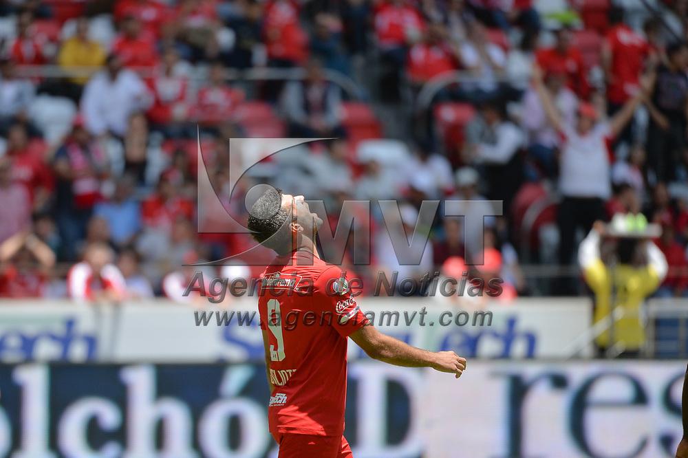 Toluca, México.- El Club Deportivo Toluca venció a los Xolos de Tijuana 2 goles por 0 en la jornada 6 de la liga Mx del futbol mexicano. En la imagen Emmanuel Gigliotti. Agencia MVT / Mario Vázquez de la Torre.