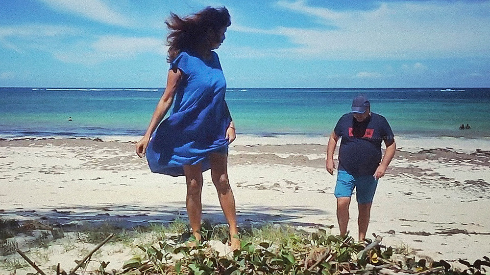 Angie Ramani- Rohart & Ludovic Rohart on Diani beach, Kenya.