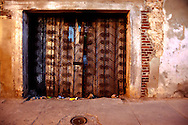 Gate in Gibara, Holguin, Cuba.