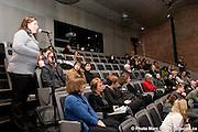 Irene Petras et Andrew Makoni de l'organisation Zimbabwe. Événement public organisé par Droits et Démocratie, en collaboration avec la Commission des droits de la personne et des droits de la jeunesse du Québec et le Conseil international du Canada..Lawyers for Human Rights dans le cadre de la tournée du prix John-Humphrey.2008. -  Centre d?archives de Montréal / Montreal / Canada / 2008-12-09, © Photo Marc Gibert / adecom.ca