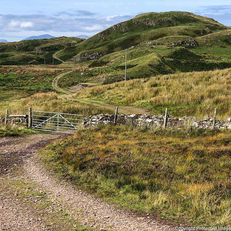 Old quarry track to Bealach Gaoithe and the Ardmaddy Wishing Tree, Argyll, Scotland.