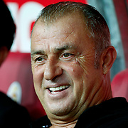 Galatasaray's coach Fatih TERIM during their Friendly soccer match Galatasaray between Liverpool at the TT Arena at Arslantepe in Istanbul Turkey on Saturday 28 July 2011. Photo by TURKPIX