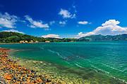 Coastline along the Otago Peninsula, Dunedin, Otago, South Island, New Zealand