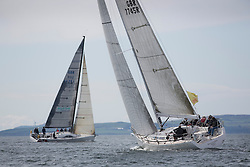 RWYC's Savills Kip Regatta  9-10th May 2015 <br /> Excellent conditions for the opening racing of the Clyde Season<br /> <br /> Class 1 , Jamie McGarry sailing Swan 45, Eala of Rhu<br /> <br /> Credit : Marc Turner / PFM