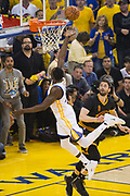 Golden State Warriors forward Draymond Green (23) takes the ball to the basket during Game 5 of the NBA Finals against the Cleveland Cavaliers at Oracle Arena in Oakland, Calif., on June 12, 2017. (Stan Olszewski/Special to S.F. Examiner)