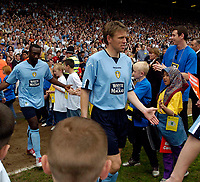 Photo. Jed Wee, Digitalsport<br /> Lucas Radebe Testimonial, Leeds United XI v International XI, 02/05/2005.<br /> Gunnar Halle arrives for the game.