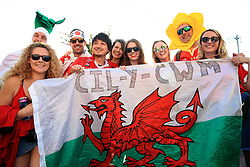 Wales fans show their support ahead of the 2019 Rugby World Cup bronze final match at Tokyo Stadium.