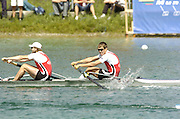 Munich, GERMANY, CAN M2-, bow Malcolm Howard and Kevin Light,, 2006, FISA, Rowing, World Cup, on the Olympic Regatta Course, Munich,Sat.  27.05.2006. © Peter Spurrier/Intersport-images.com,  / Mobile +44 [0] 7973 819 551 / email images@intersport-images.com.[Mandatory Credit, Peter Spurier/ Intersport Images] Rowing Course, Olympic Regatta Rowing Course, Munich, GERMANY