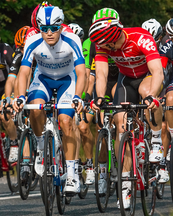 Tour de Britain cycle race - riders from the 2nd group on the King of the Mountain stage in Middleton-by-Wirksworth