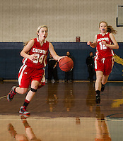 Girls finals Laconia versus Gilford in the 41st annual holiday basketball tournament at Gilford High School.  Karen Bobotas/ for the Laconia Daily Sun