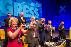 Pictured: The Scottish Cabinet wanted their own momento of the reception afforded the First Minister<br /> <br /> Nicola Sturgeon topped the bill on the final day of th SNP conference<br /> The members of the SNP gathered in the Scottish Events Centre in Glasgow for their annual conference.<br /> <br /> Ger Harley | EEm 10 October 2017