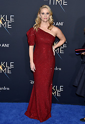 Reese Witherspoon attends the premiere of Disney's 'A Wrinkle In Time' at the El Capitan Theatre on February 26, 2018 in Los Angeles, CA, USA. Photo by Lionel Hahn/AbacaPress.com
