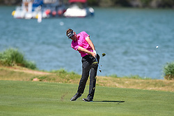 March 21, 2018 - Austin, TX, U.S. - AUSTIN, TX - MARCH 21: Ian Poulter hits a shot from the fairway during the First Round of the WGC-Dell Technologies Match Play on March 21, 2018 at Austin Country Club in Austin, TX. (Photo by Daniel Dunn/Icon Sportswire) (Credit Image: © Daniel Dunn/Icon SMI via ZUMA Press)