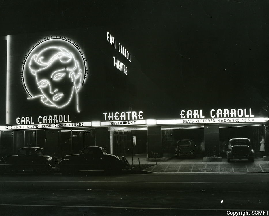 1937 Earl Carroll Theater at night