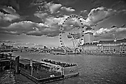 London Eye, nazywane również Millenium Wheel (koło obserwacyjne), Londyn, Anglia