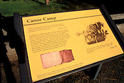 Interpretive sign at the Canoe Camp where Lewis and Clark stayed on September 26, 1805, Nez Perce National Historic Park, Idaho