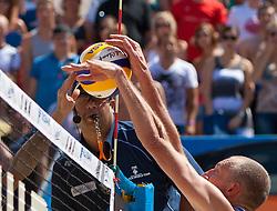 05-08-2011 VOLLEYBAL: FIVB WORLD TOUR GRANDSLAM: KLAGENFURT<br /> Richard Schuil NED<br /> ©2011-FotoHoogendoorn.nl / Gert Steinthaler