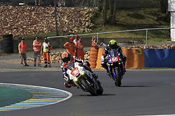 April 21, 2018 - Le Mans, SARTHE (72, FRANCE - 36 3ART MOTO TEAM 95 (FRA) YAMAHA YZF R1 SUPERSTOCK PLANCASSAGNE ALEX (FRA) LUSSIANA MATTHIEU (FRA) BIJSTERBOSCH PEPJIN  (Credit Image: © Panoramic via ZUMA Press)