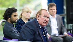 Conservative Party Conference <br /> ICC, Birmingham, Great Britain <br /> Sunday 28th September 2014 <br /> <br /> <br /> Andrew Neil on Sunday Politics show <br /> <br /> <br /> Photograph by Elliott Franks <br /> Image licensed to Elliott Franks Photography Services