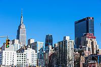 NEW YORK CITY- MARCH 24, 2018 : Manhattan midtown building skyline   one of the main Landmarks