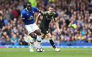 Romelu Lukaku of Everton and Gary Cahill of Chelsea during the English Premier League match at Goodison Park , Liverpool. Picture date: April 30th, 2017. Photo credit should read: Lynne Cameron/Sportimage