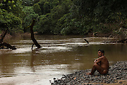Huaorani Indian, Baiwa Miipo  MODEL RELEASE: B#8<br /> Bameno Community. Yasuni National Park.<br /> Amazon rainforest, ECUADOR.  South America<br /> This Indian tribe were basically uncontacted until 1956 when missionaries from the Summer Institute of Linguistics made contact with them. However there are still some groups from the tribe that remain uncontacted.  They are known as the Tagaeri & Taromenane. Traditionally these Indians were very hostile and killed many people who tried to enter into their territory. Their territory is in the Yasuni National Park which is now also being exploited for oil.