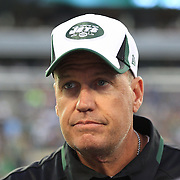 Jets coach Rex Ryan on the sideline during the New York Jets V Philadelphia Eagles Pre Season NFL match at MetLife Stadium, East Rutherford, NJ, USA. 29th August 2013. Photo Tim Clayton