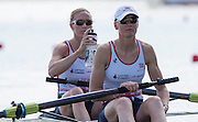 Poznan, POLAND. GBR W2-, boa Helen GLOVER and Heather STANNING, 2015 FISA European Rowing Championships. Venue, Lake Malta. Saturday 30.05.2015. [Mandatory Credit: Peter Spurrier/Intersport Images]