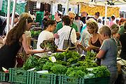 Farmers Market / Bure Markt at Schaffhausen, Switzerland, Europe.