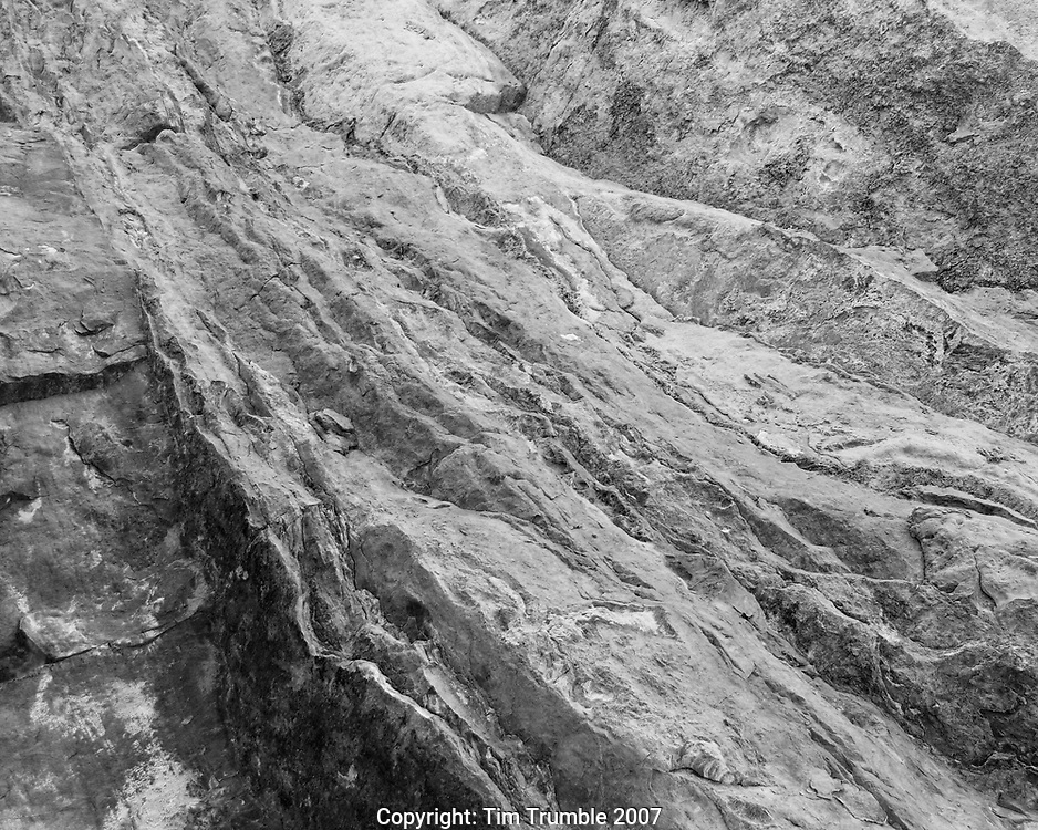 artistic black and white detail of rocks