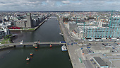 Aerial images Dublin Port and Docklands Area 12-5-20