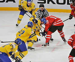 01.05.2013, Globe Arena, Stockholm, SWE, IIHF, Eishockey WM, Vorberichte, im Bild tekning Sverige Sweden 33 Henrik Sedin Canada Kanada 11 Jordan Staal // during the IIHF Icehockey World Championship Game between Canada and Sweden at the Ericsson Globe, Stockholm, Sweden on 2013/05/16. EXPA Pictures © 2013, PhotoCredit: EXPA/ PicAgency Skycam/ Simone Syversson..***** ATTENTION - OUT OF SWE *****