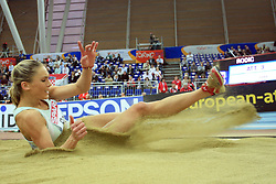 Snezana Rodic of Slovenia placed sixth in the final of Women Triple  jump at the 3rd day of  European Athletics Indoor Championships Torino 2009 (6th - 8th March), at Oval Lingotto Stadium,  Torino, Italy, on March 8, 2009. (Photo by Vid Ponikvar / Sportida)