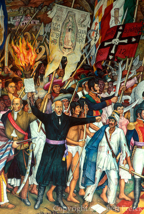 MEXICO, MEXICO CITY, MURAL Independence Mural, Father Hidalgo